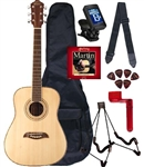 Oscar Schmidt OG1 Spruce Top 3/4 Size Kids Acoustic Guitar Package