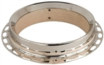 Recording King PB-680 Banjo Pot Assembly Undrilled Flathead Tone Ring w/ 3-Ply Maple Rim Nickel Finish