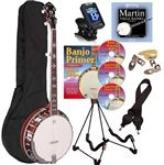Recording King RK-R20 Songster 5 String Banjo Package