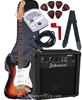 Crestwood ST920 Strat Style Double Cutaway Electric Guitar Package. InstrumentAlley.com