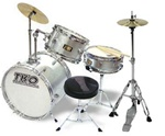 TKO 99 Junior 3 Piece Drum Set with Throne and Sticks w/ Hi-Hats