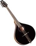 Trinity College TM-325B Black All-Solid Octave Mandolin w/ Hard Case