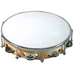 "GP Percussion 10"" Professional Tunable Tambourine TP108"