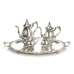 Baroque by Wallace, Silverplate 5-PC Tea & Coffee Service w/ Tray