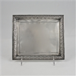 Vanity Tray by Derby Silver Co., Silverplate Victorian Palm & Floret Design