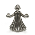 Candle Holders, Silverplate Angel