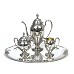Charm by Holmes & Edwards, Silverplate 4-PC Coffee Service w/ Tray