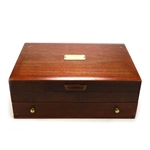 Silverware Box, Wood, 2 Drawer, Mahogany