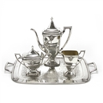 Adoration by 1847 Rogers, Silverplate 4-PC Coffee Service w/ Tray