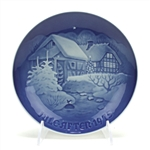 Christmas Plate by Bing & Grondahl, Porcelain Decorators Plate, Old Water Mill