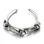 Cuff, Silverplate, Leaf & Flower Design