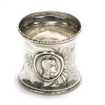 Medallion, Sterling Napkin Ring, Monogram KP