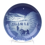 Christmas Plate by Bing & Grondahl, Porcelain Decorators Plate, Christmas in Greenland