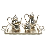 American Rose by International, Silverplate 5-PC Tea & Coffee Service