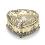 Jewelry Box by WED, Silverplate, Twin Hearts