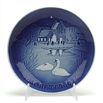 Christmas Plate by Bing & Grondahl, Porcelain Decorators Plate, Christmas in the Village