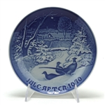 Christmas Plate by Bing & Grondahl, Porcelain Decorators Plate, Pheasants in the Snow