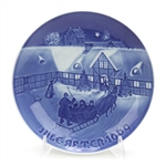 Christmas Plate by Bing & Grondahl, Porcelain Decorators Plate, Arrival of Christmas Guests