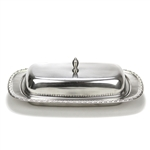 Butter Dish by MSJ, Stainless, Flower Bud Design
