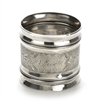 Napkin Ring by Coin Silver, Coin, Beaded & Engraved, Monogram Sue