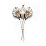 Pin, Sterling, Stylized Lily