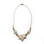 Necklace, Gold Electroplate, Leaves