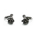 Earrings by Danecraft, Sterling, Rose