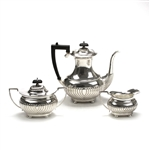 3-PC Coffee Service by England, Silverplate, Ribbed Design