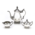 3-PC Coffee Service by F. B. Rogers, Silverplate, Scroll Design