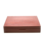 Silverware Box, Wood, Burgundy Finish