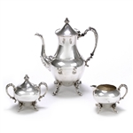 3-PC Coffee Service by Sheridan Silver Co., Inc., Silverplate, Flroral Design