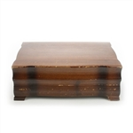 Silverware Box by 1847 Rogers, Wood, Mahogany, Double Storage