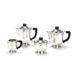4-PC Tea & Coffee Service, Silverplate, Deco Design