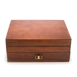 Silverware Box, Wood, Double Drawer, Mahogany