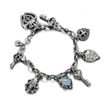Charm Bracelet by Brighton, Metal, Hearts & Keys