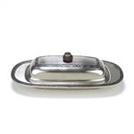 Butter Dish by Oneida, Stainless, Scroll Design