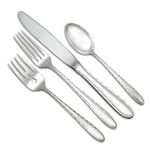 Silver Flutes by Towle, Sterling 4-PC Setting, Luncheon, Modern