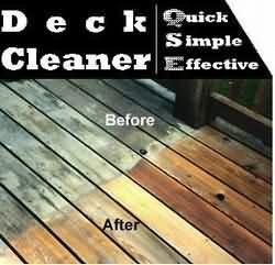 Deck Cleaning: Deck Cleaner QSE