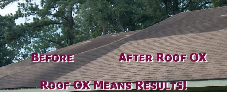 Roof Shingle Cleaner Ox Removes Roof Algae Stains