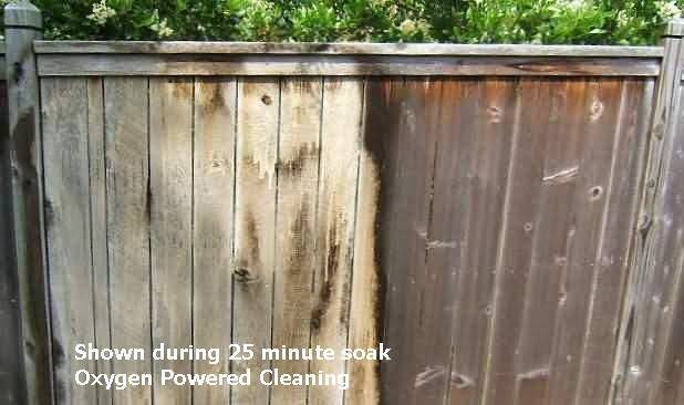 how to clean deck with bleach