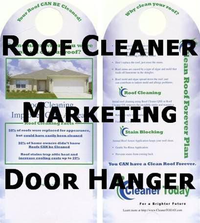 Roof Cleaning Marketing Materials Door Hanger