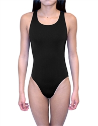 Female Solid Speed Back Swim Suit