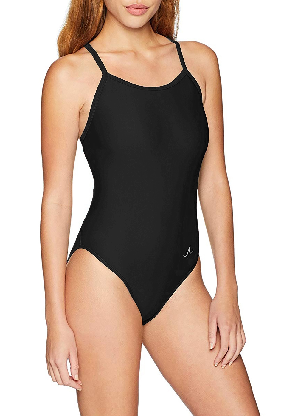Female Solid Thin Strap Swim Suit