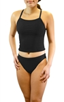 Female Solid Tankini Swim Suit