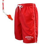 Men's Guard Swimwear Board Short with FREE Whistle and Lanyard