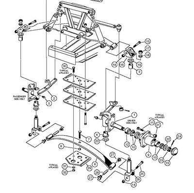 assembly  spindle passenger side