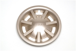 "8"" METALLIC GOLD HUBCAP ASSEMBLY No Logo"