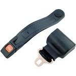 Golf Cart Black Retractable Seat Belt Lap Belt