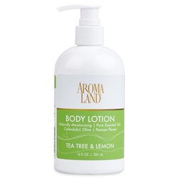 Aromatherapy+ Hand & Body Lotion - Tea Tree & Lemon 12 oz.