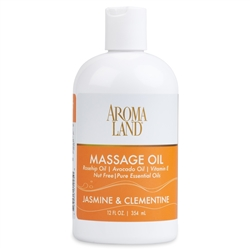 Aromatherapy+ Massage & Body Oil - Jasmine & Clementine 12 oz.